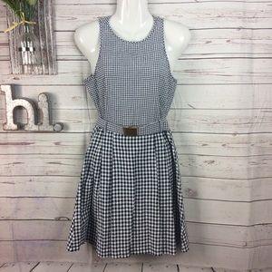 Michael Michael Kors gingham print fit/flair dress